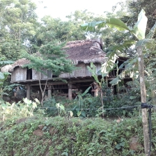 Typical house in Pu Luong.