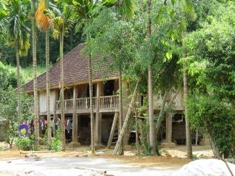 Traditional stilt house.