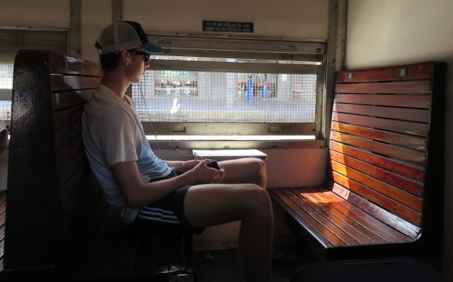 train to Hue. Riley really impressed!