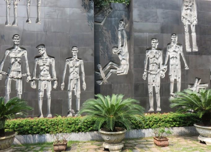 Hoa Lo Prison mural.
