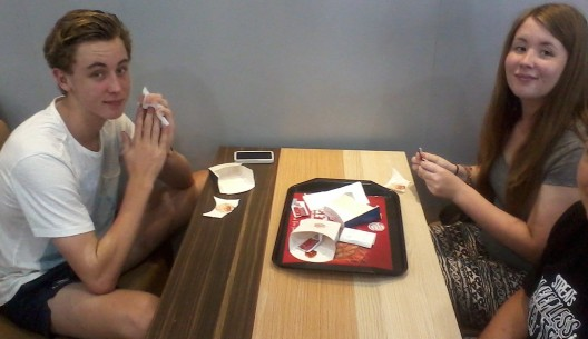 KFC before the flight...