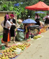 The colours of a local minority market.